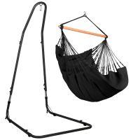 Habana Onyx - Chaise-hamac comfort avec support en acier revêtu par poudre