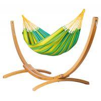 Sonrisa Lime - Hamac classique simple avec support en mélèze certifié FSC™