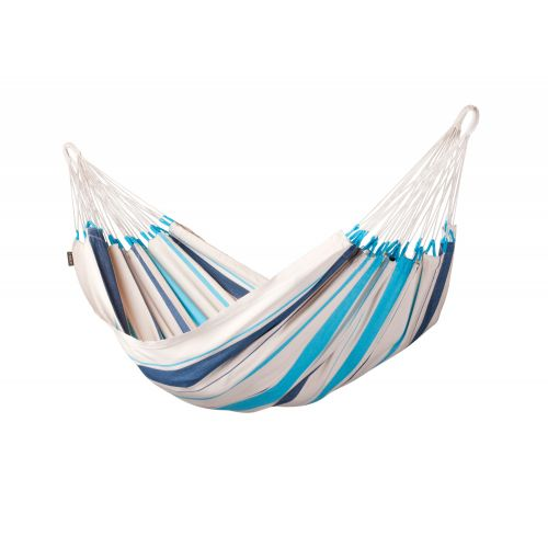 Caribeña Aqua Blue - Hamac classique simple en coton