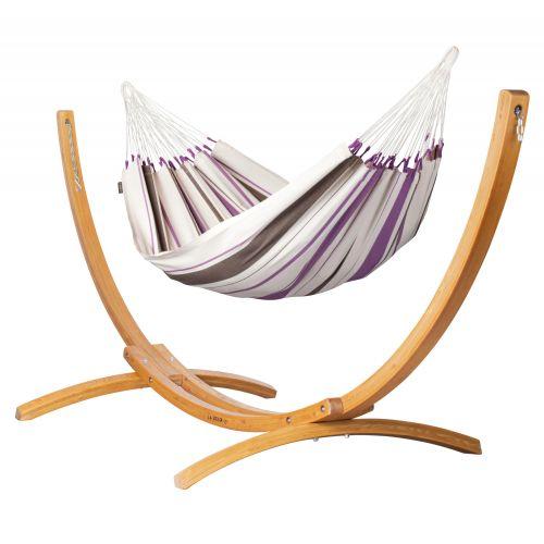 Caribeña Purple - Hamac classique simple avec support en mélèze certifié FSC™