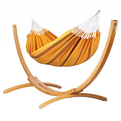 Currambera Apricot - Hamac classique double avec support en mélèze certifié FSC™