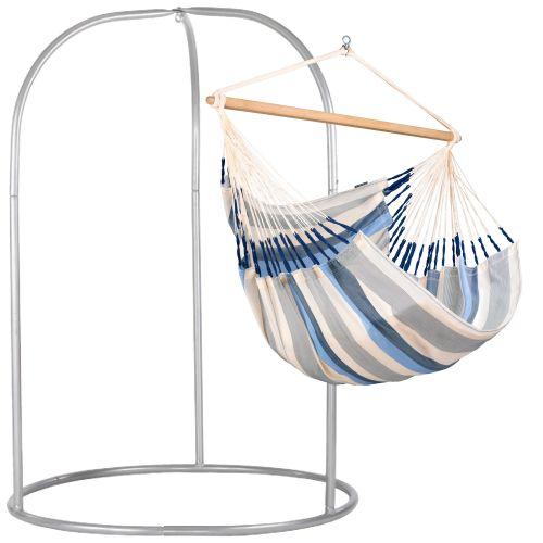 Domingo Sea Salt - Chaise-hamac kingsize avec support en acier revêtu par poudre