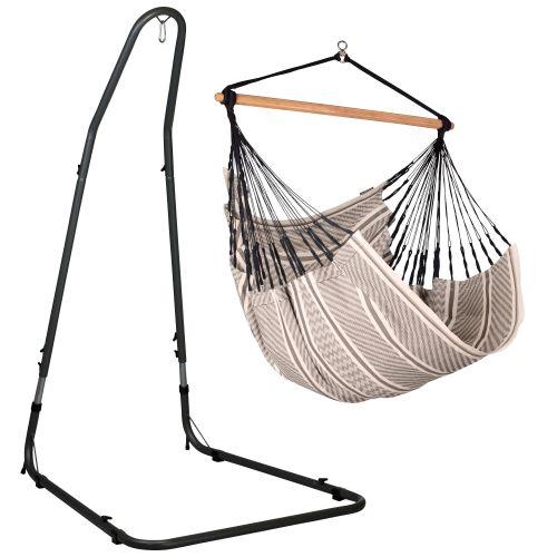 Habana Zebra - Chaise-hamac comfort avec support en acier revêtu par poudre