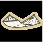 Le hamac à barres décoratif: il est ouvert à tout !