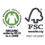 Par amour de la Nature: coton organique et bois FSC