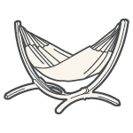 Un hamac sur châssis LA SIESTA